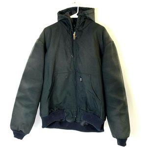 Carhartt Jacket Mens L Black Quilted Lining J133